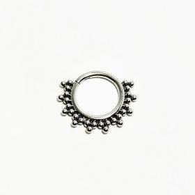 Argolade Titânio Decorada-8mm