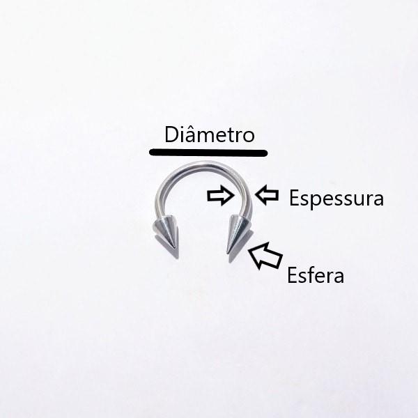 Ferradura- Material Aço Cirúrgico 316L.